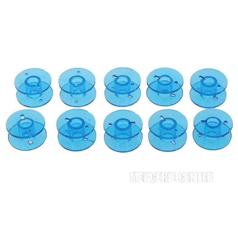 5 ou 10 Bobines Canettes en Plastique Couleur Bleu Pour Fil de Machine à Coudre