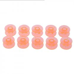 5 ou 10 Bobines Canettes en Plastique Couleur Orange Pour Fil de Machine à Coudre MC1000034