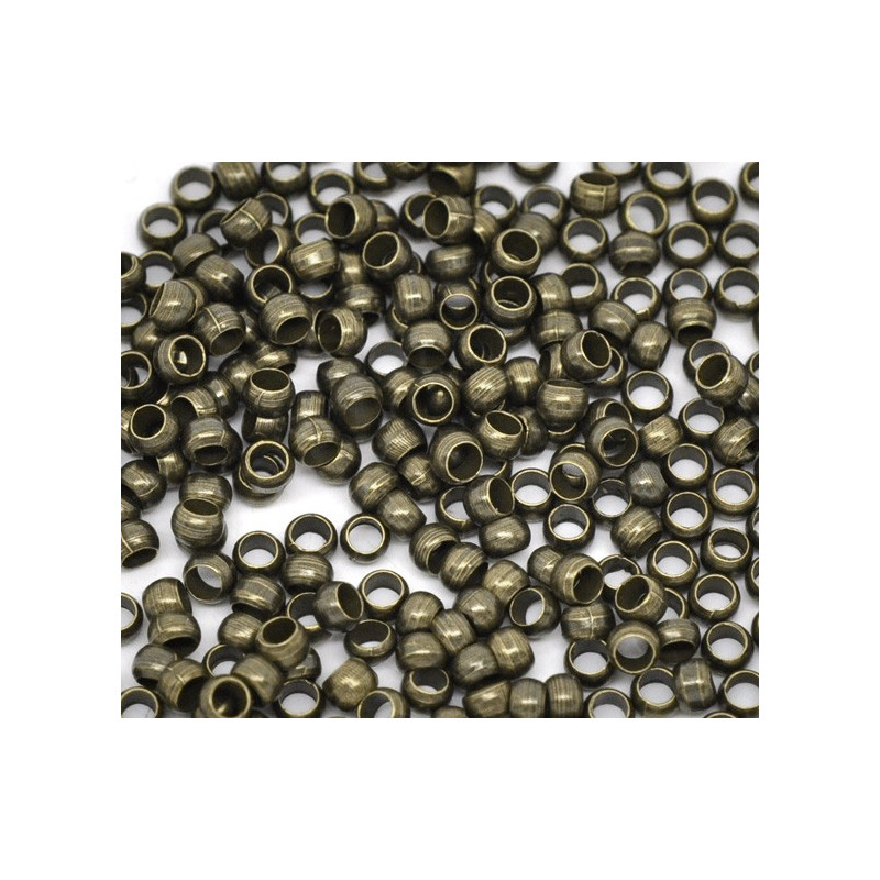 Lot de Perles à Écraser 3mm Bronze