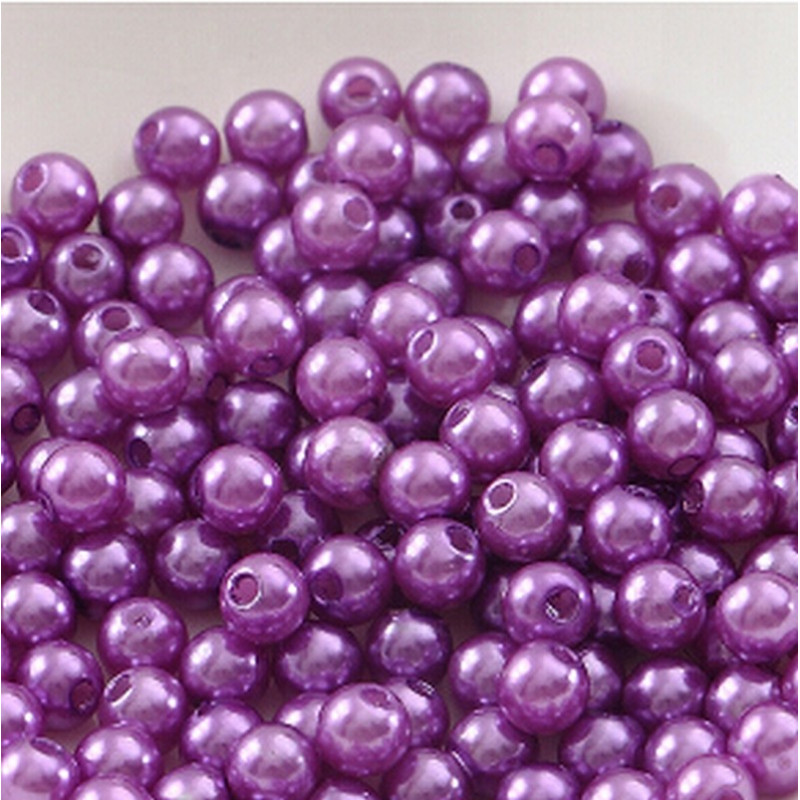 100 Perles Imitation Brillant 3mm Plusieurs Couleurs