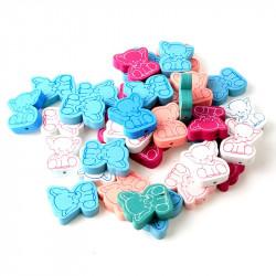 5 Perles en Bois Elephant Mixte 25mm x 21mm MC0700045