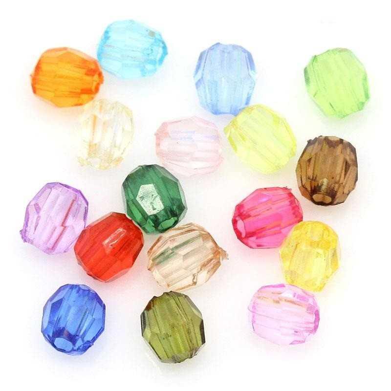 100 Perles Acrylique 4mm Facette