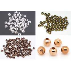 50 Perles en Métal 4mm Brillant MC0104060-64