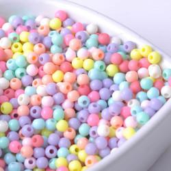50 ou 100 Perles 4mm Acrylique Couleur mixte