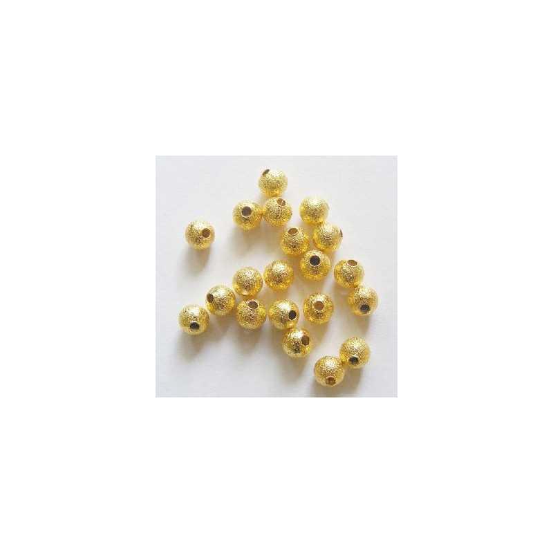 50 Perles en Métal Stardust 4mm Doré