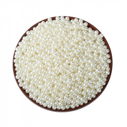 50 Perles Imitation Brillant 5mm Blanc Cassé MC0105032