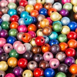 10 Perles 10mm Mixte Miracle Magique Effet Oeil De Poisson MC0110071