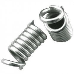 10 - 20 Embouts Ressort Spirale 9mm x 4mm en Acier