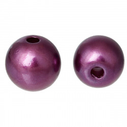 20 Perles Imitation 8mm Violet