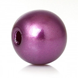 20 Perles Imitation 8mm Violet