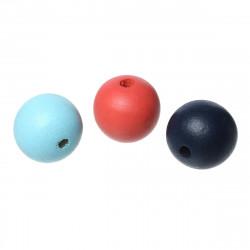 20 Perles en bois Mixte 10mm