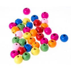 10 Perles en bois Mixte 12mm